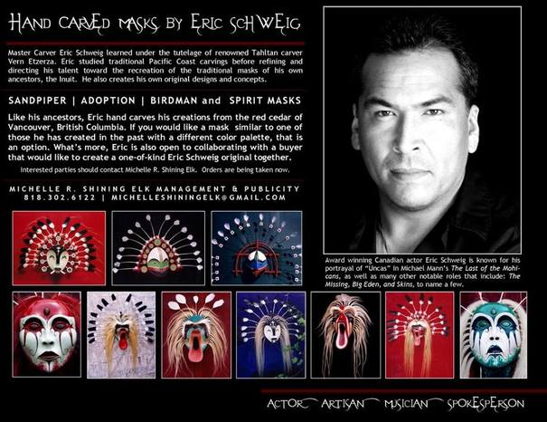 Eric Schweig Masks Elizabeth Horton Newton The Seductress Of Suspense Eric schweig is a 53 year old canadian actor. eric schweig masks elizabeth horton